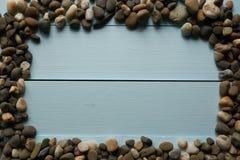 Marco simple hecho de piedras del mar Fotos de archivo libres de regalías