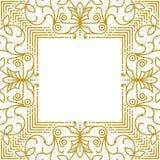 Marco simple linear con las líneas del oro Fotos de archivo