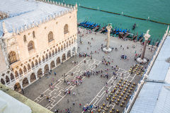 Marco square is the most famous and attractive square in Venice Stock Photo