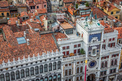 Marco square is the most famous and attractive square in Venice Royalty Free Stock Photo