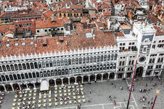 Marco square is the most famous and attractive square in Venice Royalty Free Stock Image