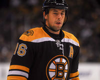 Marco Sturm, boston bruins Fotografia Royalty Free