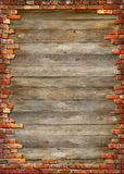 Marco sucio de la pared de ladrillo fotografía de archivo libre de regalías