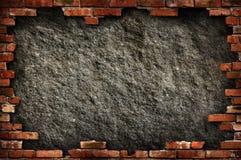 Marco sucio de la pared de ladrillo Imagen de archivo libre de regalías