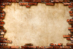 Marco sucio de la pared de ladrillo Fotografía de archivo
