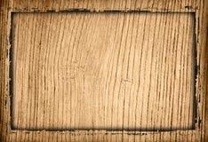 Marco sucio de madera del fondo Imagen de archivo