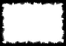 Marco sucio y gastado del Grunge negro Imágenes de archivo libres de regalías