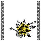 Marco tailandés del diseño floral Imagen de archivo