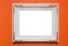 Marco tallado blanco Foto de archivo