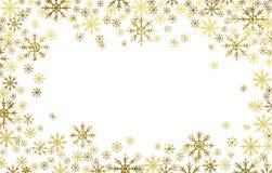 Marco texturizado de oro de los copos de nieve imágenes de archivo libres de regalías