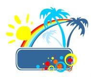 Marco tropical del verano Foto de archivo libre de regalías