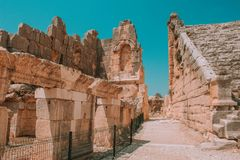 Marco Turquia - ruínas antigas imagens de stock