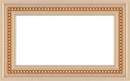 Marco vacío adornado de madera aislado Fotografía de archivo