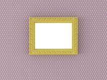 Marco vacío antiguo en el papel pintado de la vendimia Fotografía de archivo libre de regalías