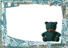 Marco vacío de la tarjeta de felicitación del oso del peluche Fotografía de archivo
