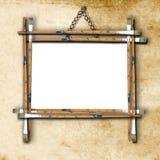 Marco vacío en la pared Fotos de archivo libres de regalías