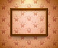 Marco vacío en la pared Imagen de archivo
