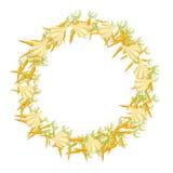 Marco vegetal con humor del otoño Decoración de la estación de la cosecha Vec Stock de ilustración