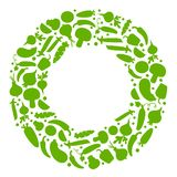 Marco vegetal verde para el texto, vector libre illustration