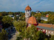 Marco velho da cidade da torre de água Fotografia de Stock Royalty Free