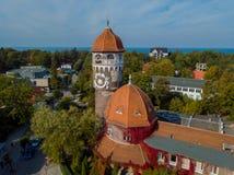 Marco velho da cidade da torre de água Foto de Stock Royalty Free
