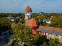 Marco velho da cidade da torre de água Fotos de Stock Royalty Free