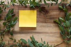 Marco verde claro de las hojas foto de archivo