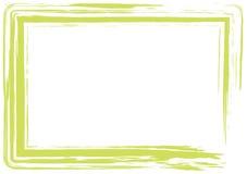 Marco verde claro del grunge Imagenes de archivo