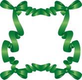 Marco verde con el arqueamiento Imagenes de archivo
