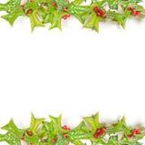 Marco verde de la Navidad aislado en blanco Imagen de archivo libre de regalías
