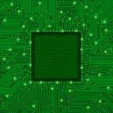 Marco verde de la placa de circuito Imagen de archivo libre de regalías