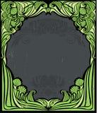 Marco verde de la vendimia stock de ilustración