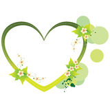 Marco verde del corazón Imágenes de archivo libres de regalías