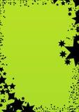 Marco verde del fondo de la estrella ilustración del vector