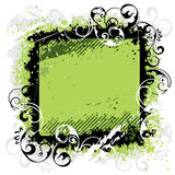 Marco verde del negro del fondo Fotografía de archivo