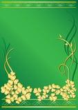Marco verde elegante con la flora Foto de archivo