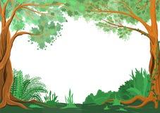 Marco verde hermoso natural ilustración del vector