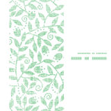 Marco vertical de la materia textil de las hojas y de los remolinos inconsútil Foto de archivo