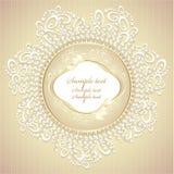 Marco Wedding o dulce con los pétalos y el cordón de las perlas stock de ilustración