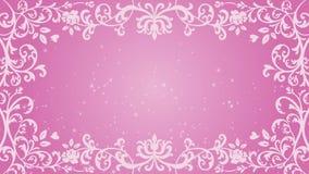 Marco y animación florales cada vez mayor del brillo - color rosado almacen de metraje de vídeo