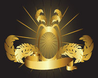 Marco y cinta del oro Fotografía de archivo libre de regalías