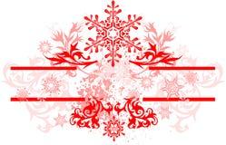Marco y copos de nieve florales libre illustration