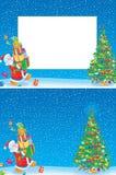 Marco y fondo de la Navidad Fotografía de archivo libre de regalías