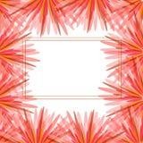 Marco y fondo florales abstractos stock de ilustración
