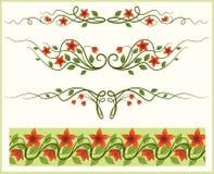 Marco y frontera florales. ilustración del vector