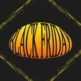 Marco y texto del grunge de Black Friday Ilustración del vector Imagenes de archivo