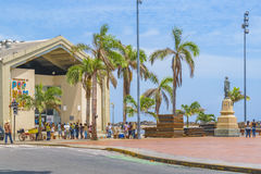 Marco Zero Kwadratowych Recife Brazylia obraz stock