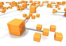 Marcoeffect van het bedrijfsnetwerkconcept Stock Foto