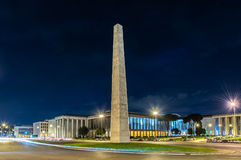 The Marconi obelisk, in the EUR district, Rome, Italy Stock Photos