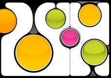 Marcos abstractos del techno Imagenes de archivo